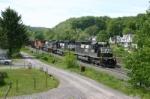 Big ole coal train with 3 sets of helpers